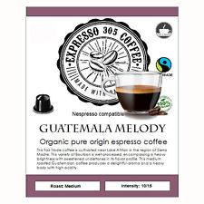 50 Organic Nespresso coffee capsules pods compatible FRESHLY ROASTED GUATEMALA