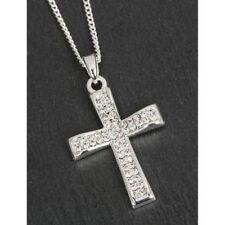 Modeschmuck-Halsketten & -Anhänger aus Strass Kreuz