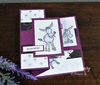 Darling Donkey Z Fold Birthday Card Stampin Up Card Happy Birthday Hee Haw