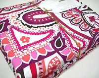 Pottery Barn Teen Purple Multi Colors Vintage Paisley Cotton Full Sheet Set New