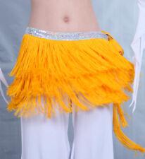 Bauchtanz Fransen Gürtel Kostüm Hüfttuch  Rock Fasching Pailletten Gelb
