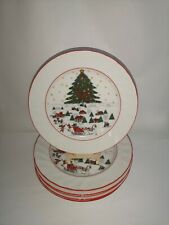 "SEVEN Kopin Christmas Pleasure 7 7/8"" Salad Plates - Excellent Condition"