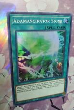 YuGiOh! - Adamancipator Signs - SESL-EN011 - SUPER Rare - 1st Edition  Mint/ NM