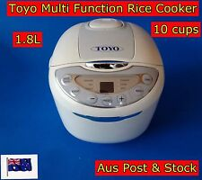 New Design TOYO Fuzzy Logic Multi-function Rice Cooker with LED 10 Cups 1.8L NEW