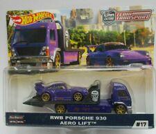 Hot Wheels Car Culture Team Transport RWB Porsche 930 & Aero lift Truck.