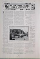 1903 PRINT CREUX HARBOUR SARK ACCESS TO ISLAND ARTICLE AMATEUR PHOTOGRAPHY