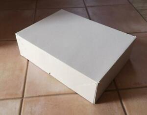 Stülpdeckelkarton 350x255x100 mm Stülpschachtel Faltkarton Versandpappe grau