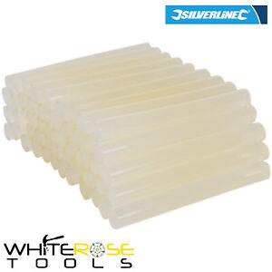 Silverline Glue Sticks Adhesive 50 Pack 11.2 x 100mm Wood Fabric Plastic Crafts
