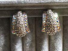 Clip on earrings crystal art nouveau style high quality glamorous elegant