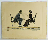 "11"" Antique Print With This Ring I Thee Wed James Montgomery Flagg"