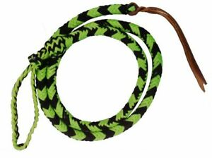 Showman 4 1/2' Braided Nylon Over & Under Whip w/ Leather Popper