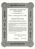 Ahstedt - Schellerten Zuckerfabrik AG DM Aktie 1956 Nordzucker Lk Hildesheim