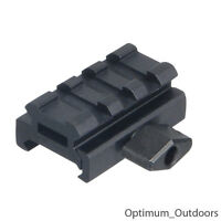 Ultra Low Profile 3 Slot 20mm QD Weaver Picatinny Rail Riser Rifle Scope Mount