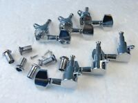 6 Chrome Guitar String Tuning Pegs Tuners Machine Heads Acoustic Electric 3R+3L