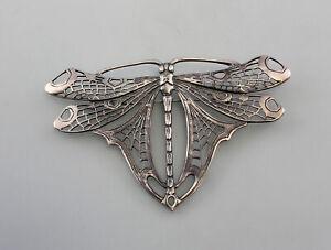 9901004 925er Silber große Jugendstil-Brosche Libelle 9x6cm