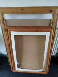 4 x Large wooden picture frames job lot