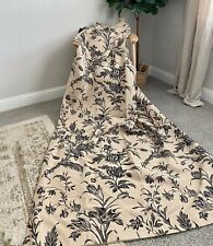 Laura Ashley UK Lloyd lined curtains (Pair) Biscuit/Charcoal *RARE fabric*