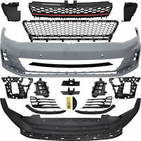 Stoßstange + Grill vorne lackierfähig für VW Golf VII 7 GTI Look Optik Bj. 12->>