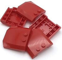 Lego 5 New Red Wedge 4 x 4 x 2/3 Triple Curved Pieces