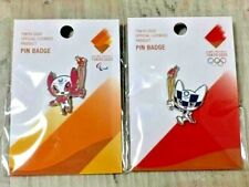 Tokyo Olympic 2020, 2 Pins Pin Badge Set Japan 100% Official Olympic Torch Relay