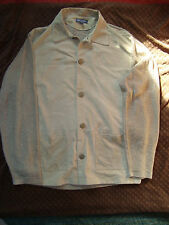 Mondo diMarco Mens Suede/Linen Beige Jacket Size L/52 Made in Italy NO DEFECTS