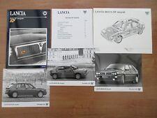 Lancia Delta HF Integrale Pres Pack 1991 Includes Photos & Technical Diagrams