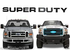 Piano Black Super Duty Front Grille Letters For 2008-2016 F-250/F-350/F-450 New
