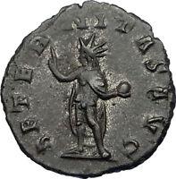 GALLIENUS son of Valerian I 260AD Authentic Ancient Roman Coin SOL SUN i65646