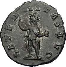 GALLIENUS son of Valerian I 260AD Authentic Ancient Roman Coin SOL SUN i65646
