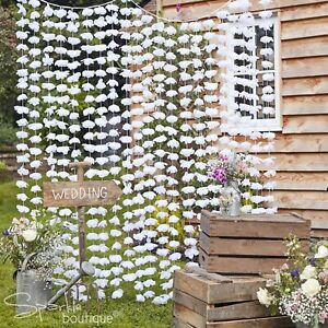 WHITE FLORAL BACKDROP - Large Wedding/Party Photo Booth/Hanging Venue Decoration