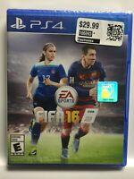 FIFA Soccer 16 (PS4,Sony PlayStation 4, 2015) Brand New Factory Sealed! USA!