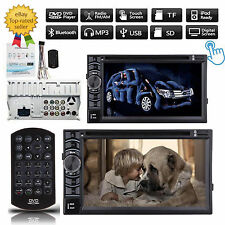 """Double 2 Din 6.2"""" In Dash Car Stereo Radio Mp3 DVD Player Bluetooth Ipod TV HD"""