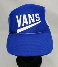 Vintag Vans Trucker Snapback Hat Blue And White