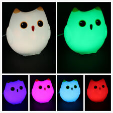 7 colors Owl LED Nightlight Touch Control,USB Connect Cute gift USA seller