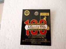 "Vintage 1996 Atlanta Centennial Olympic Games ""100"" background cut-out style pin"
