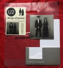 U2 SONGS OF EXPERIENCE PROMO SET - US 7x7 CD Book - CD Holder - Stickers - Bag