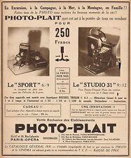 Y9241 Apparecchi fotografici PHOTO-PLAIT - Pubblicità d'epoca - 1931 Old advert