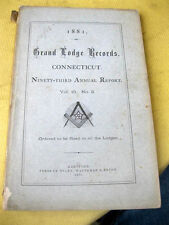 GRAND LODGE ANCIENT FREE & ACCEPTED MASONS OF CONNECTICUT,1881