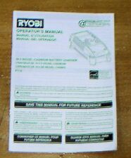 RYOBI OPERATOR MANUALS FOR CORDLESS TOOLS