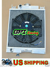 Suzuki Swift GTi/GS/GT/GL/GLX 89-1994 Aluminum Radiator + FAN MT 90 91 92 93 94