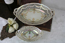 Pair french 70's porcelain presensation trays vintage