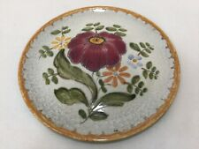 "Royal Gouda Art Pottery #6099 Floral Plate, 7 1/4"" Diameter, Holland"