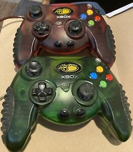 MadCatz Original Xbox Macro 2 Wired Controllers Green And Red Untested