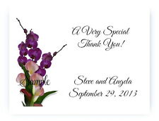 100 Custom Personalized Calla Lily Purple Floral Wedding Bridal Thank You Cards