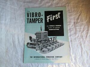 1957 International vibro-tamer compaction equipment brochure