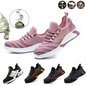 Ladies Womens Lightweight Safety Shoes Steel Toe Cap Work Trainers Hiking Boot