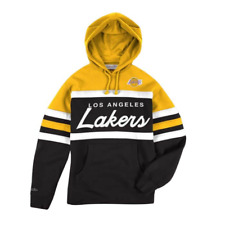 Men's Mitchell & Ness Gld/Blk NBA LA Lakers Head Coach Hoodie