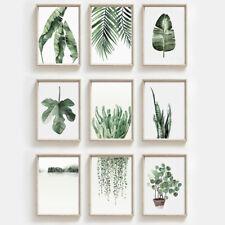 More details for green leaf art prints botanical wall poster picture minimalist decor unframed