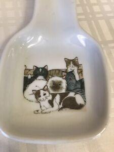 Ceramic Cat Spoon Rest EUC