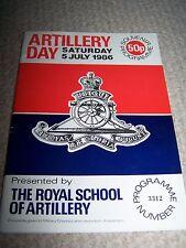 Artillery Day Souvenir Program 1986